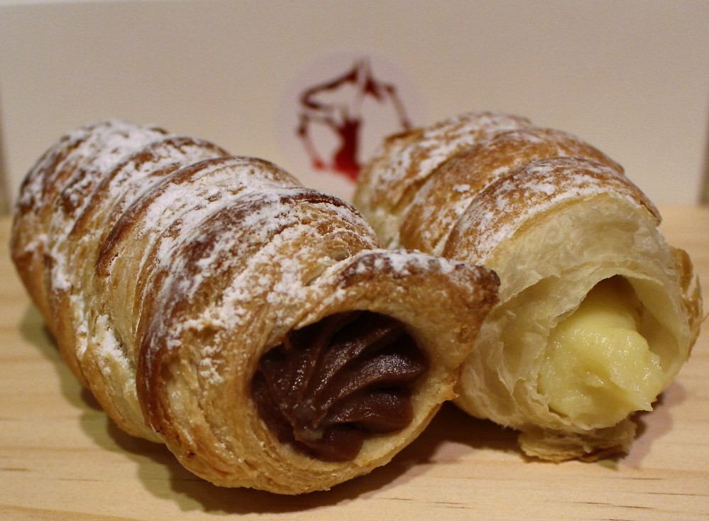 cannoncini, chocolate, vanilla, lemon, palmieri cafe