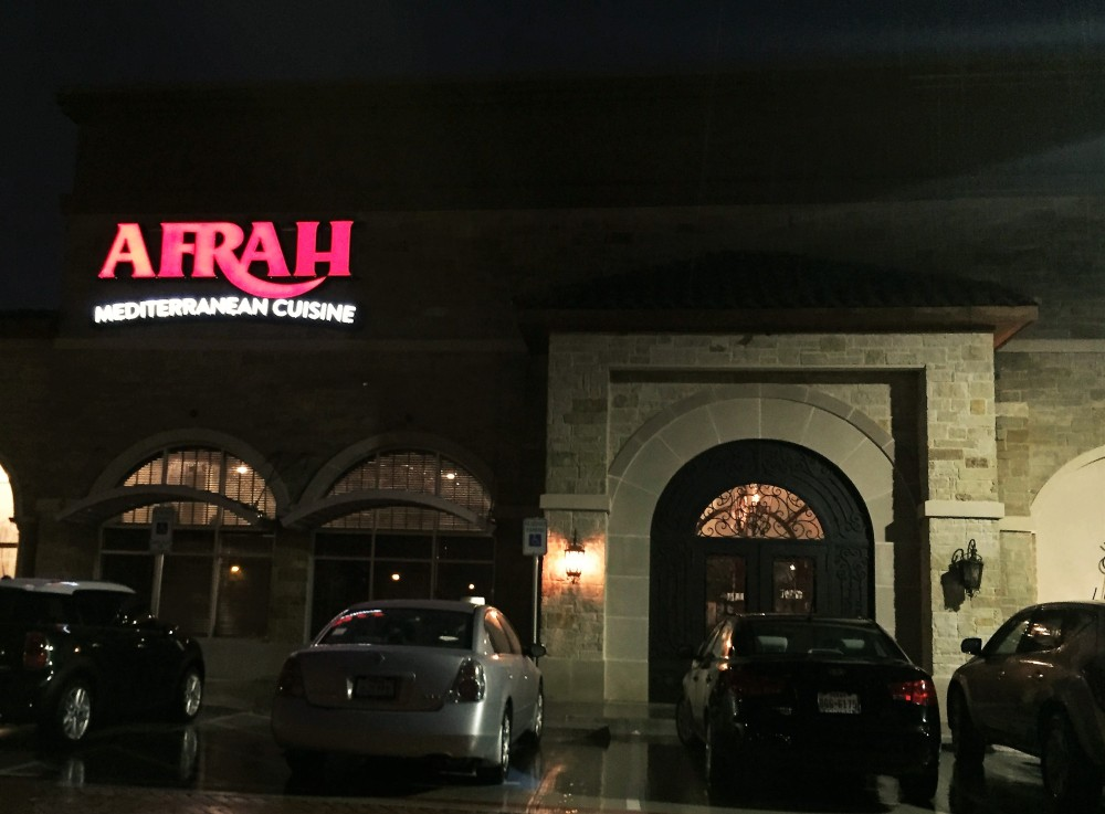 Afrah, Richardson, Texas, Mediterranean, foodie, Dallas