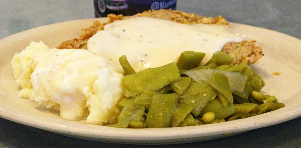 Norma's Cafe. North Dallas, 60th Birthday, chicken fried steak, mashed potatoes, green beans