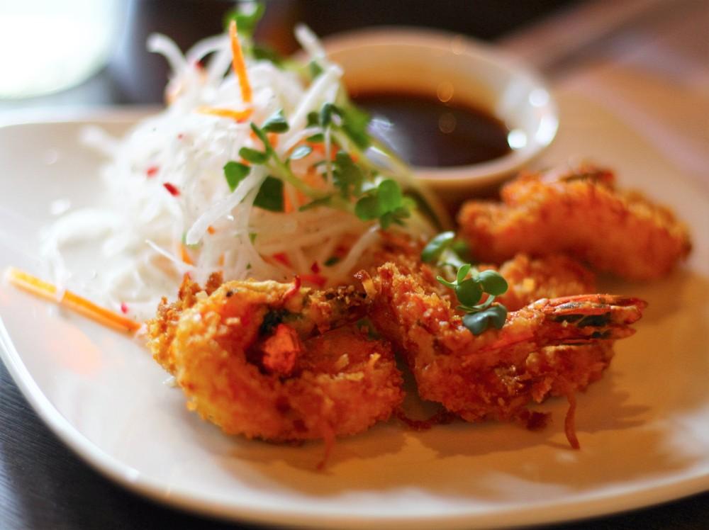 coconut shrimp tempura, black ship little katana, japanese, korean, american, slaw, hoisin lime sauce, foodie, omni dallas, downtown