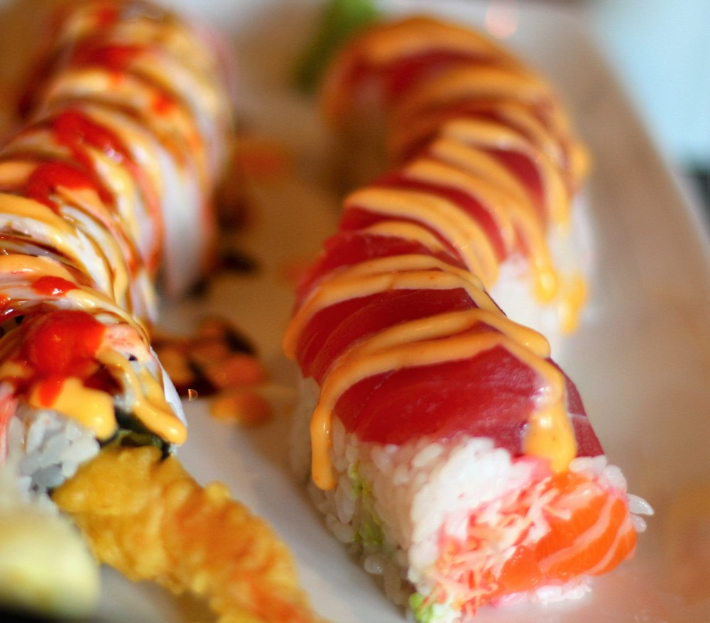 sunny roll, charming roll, sushi, tempura, foodie, black ship, little katana, downtown dallas, omni