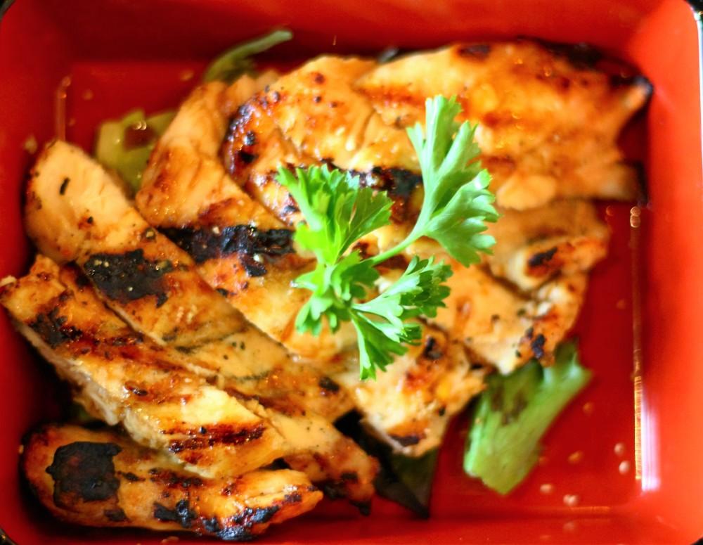 chicken teriyaki, bento box, black ship, little katana, downtown dallas, omni, foodie
